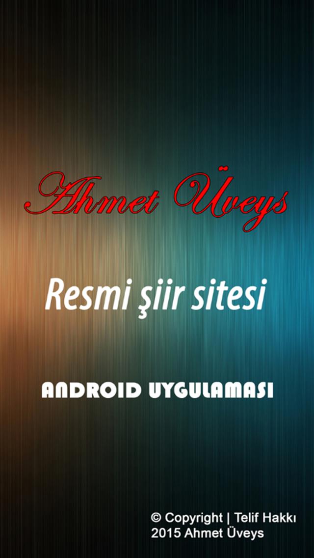 Ahmet Üveys şiirleri