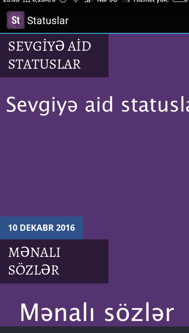 Statuslar