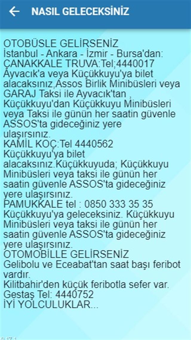 ASSOS GEZİ REHBERİ