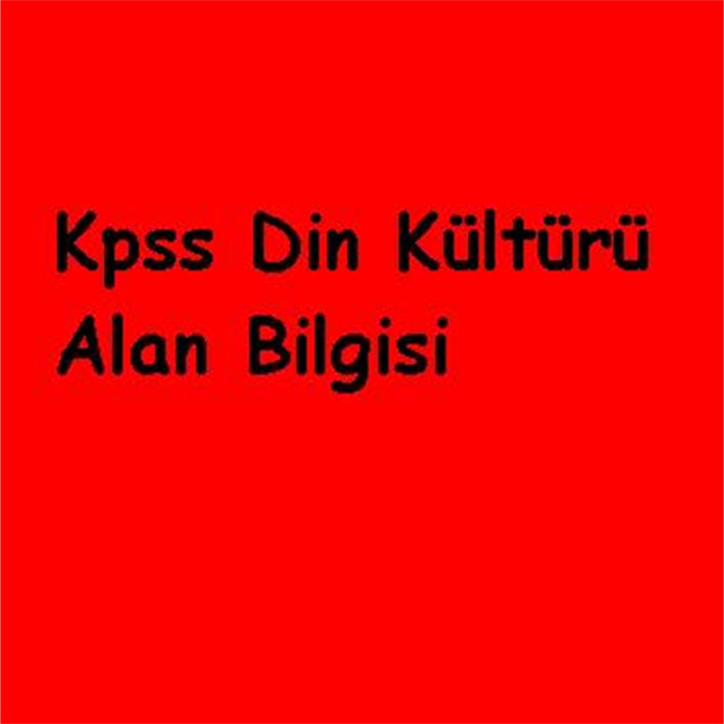 Kpss Din Kültürü Alan Bilgisi