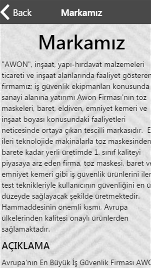 Awon Safety Equıpments