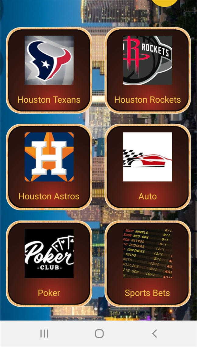 Houston Sports Page