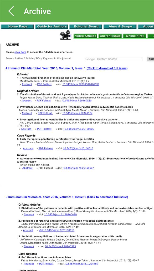 J immunol clin microbiol, JICM