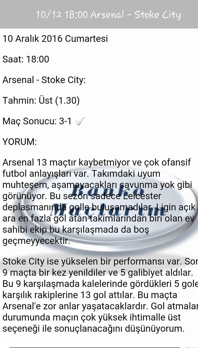 VIP Banko Maçlarım