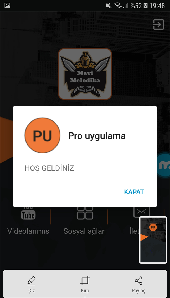 Mavi Melodika mobil uygulama