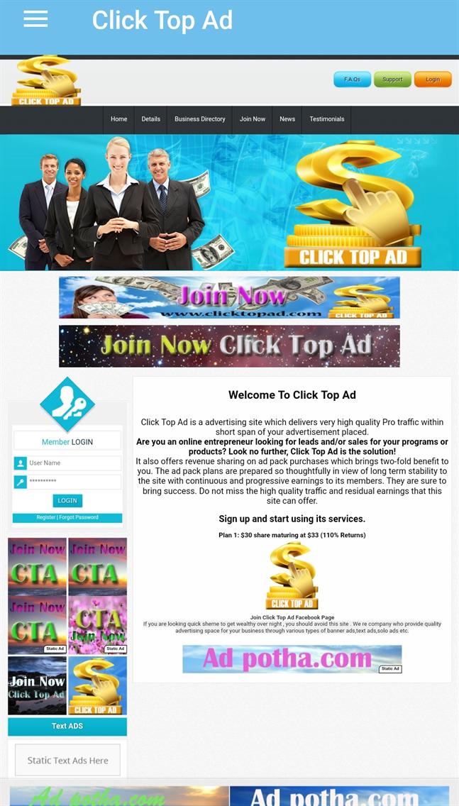 Click Top Ad