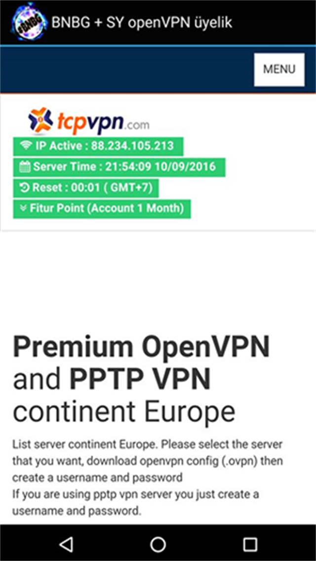 BNBG + SY openVPN üyelik