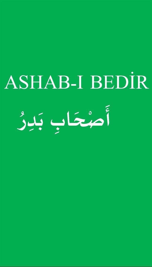 ASHAB-I BEDİR-أَصْحَابِ بَدِرُ