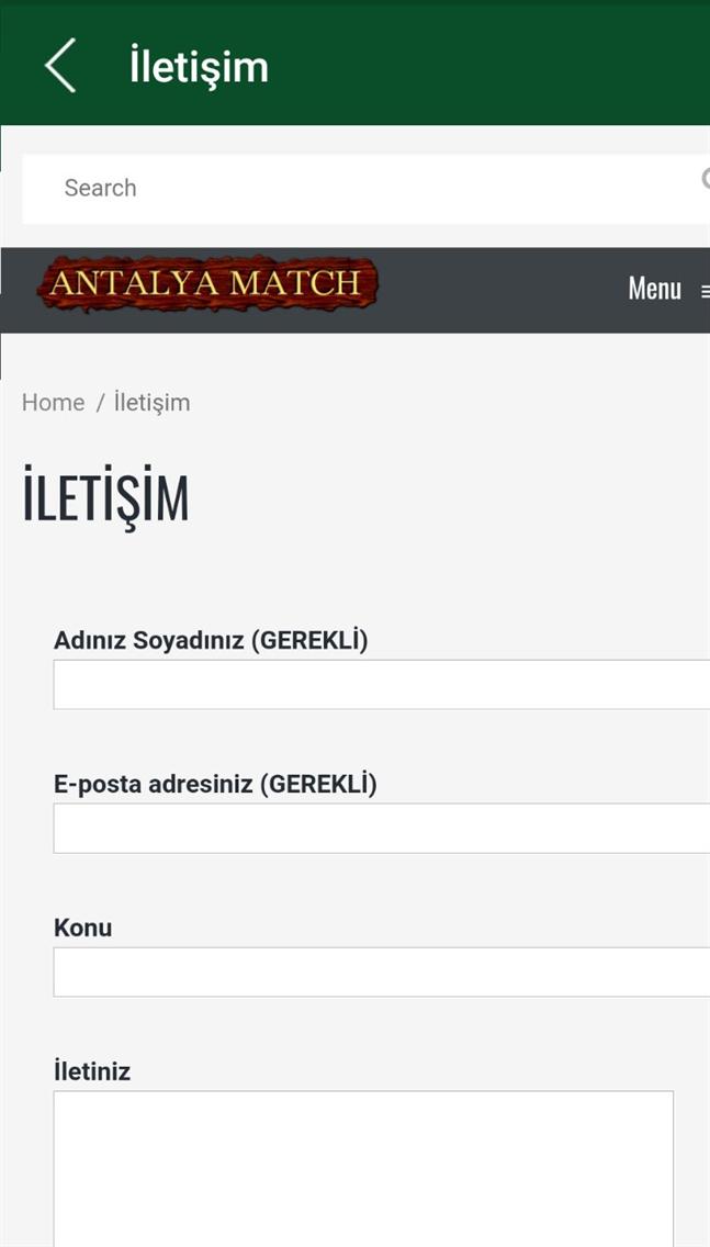 Antalya Match