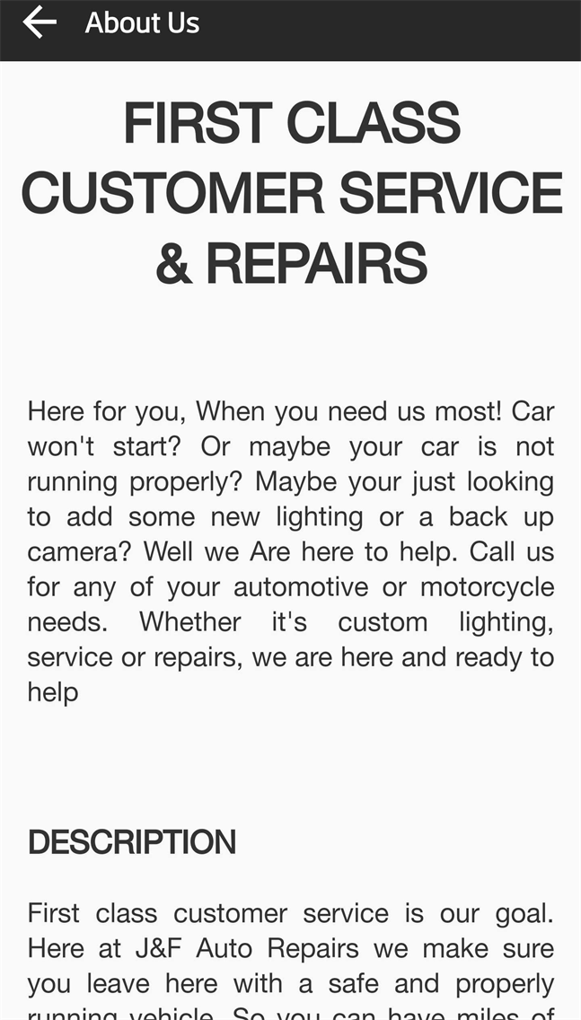 JF Auto Repair