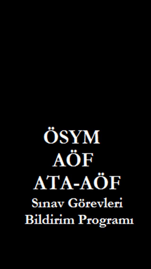 ÖSYM / AÖF Sınav Görevleri