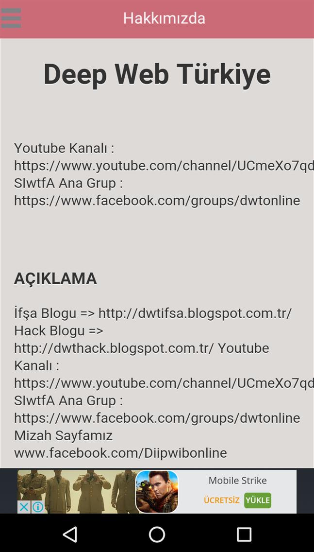 Deep Web Türkiye