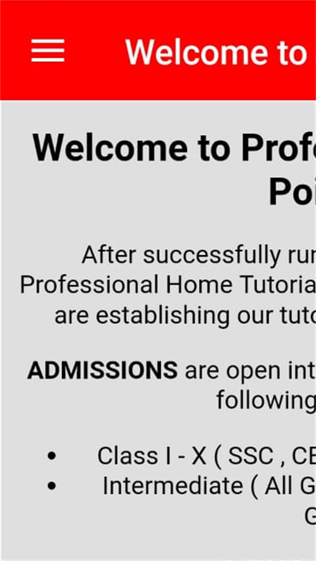 Professional Tutorial Point