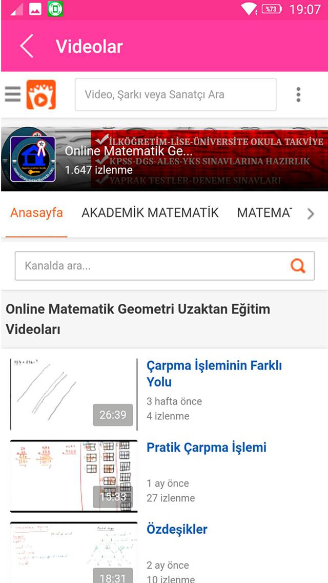Online Matematik Geometri