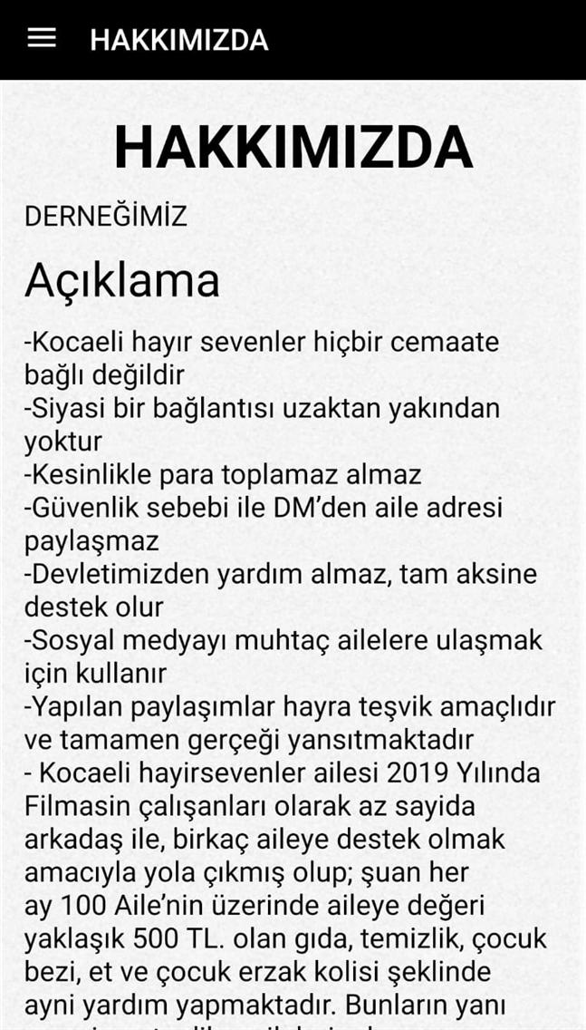 KOCAELİ HAYIR SEVENLER