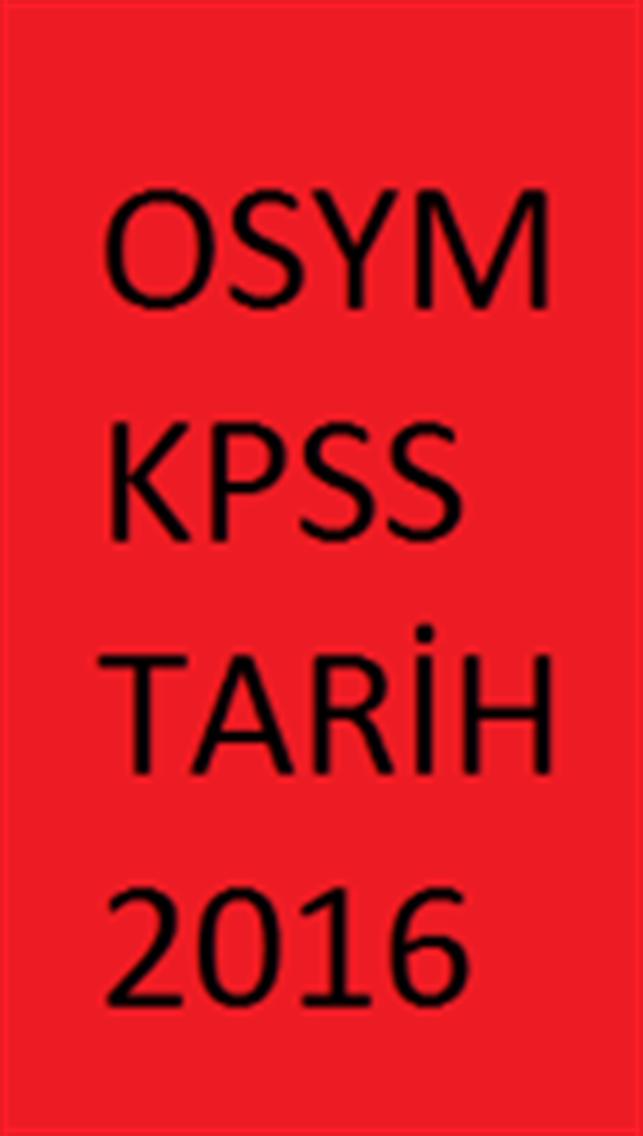 KPSS TARİH 2016