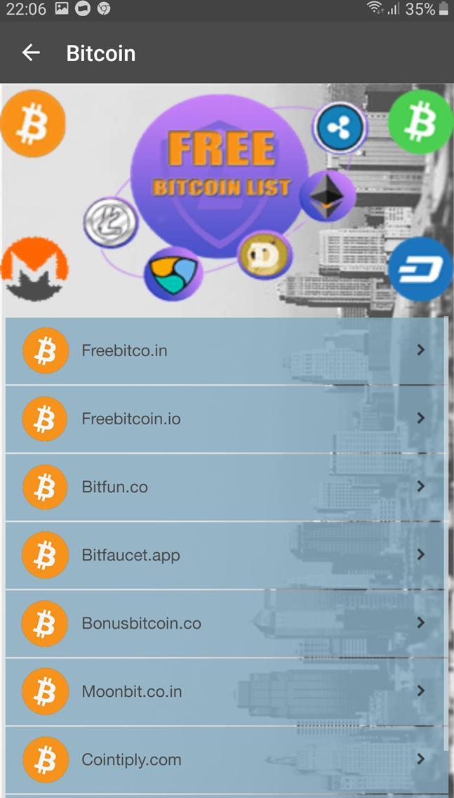 Free Bitcoin List
