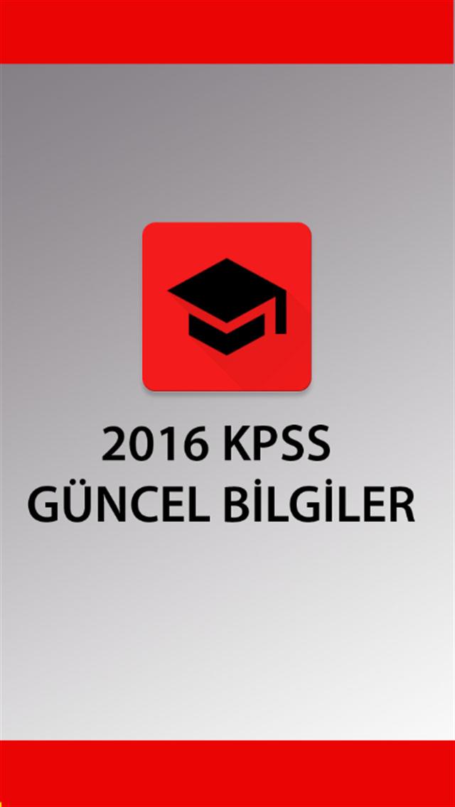 KPSS 2016 GÜNCEL BİLGİLER