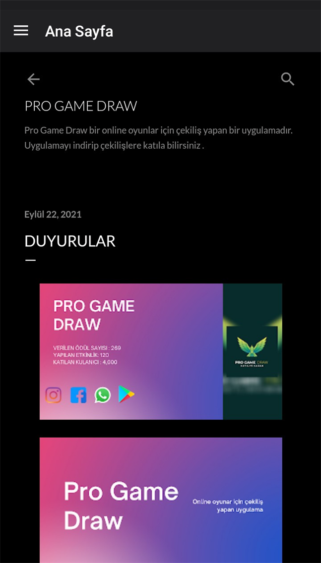 Pro Game Draw