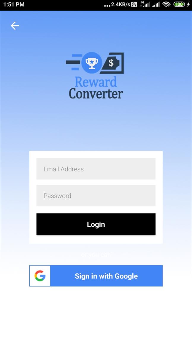 Reward Converter