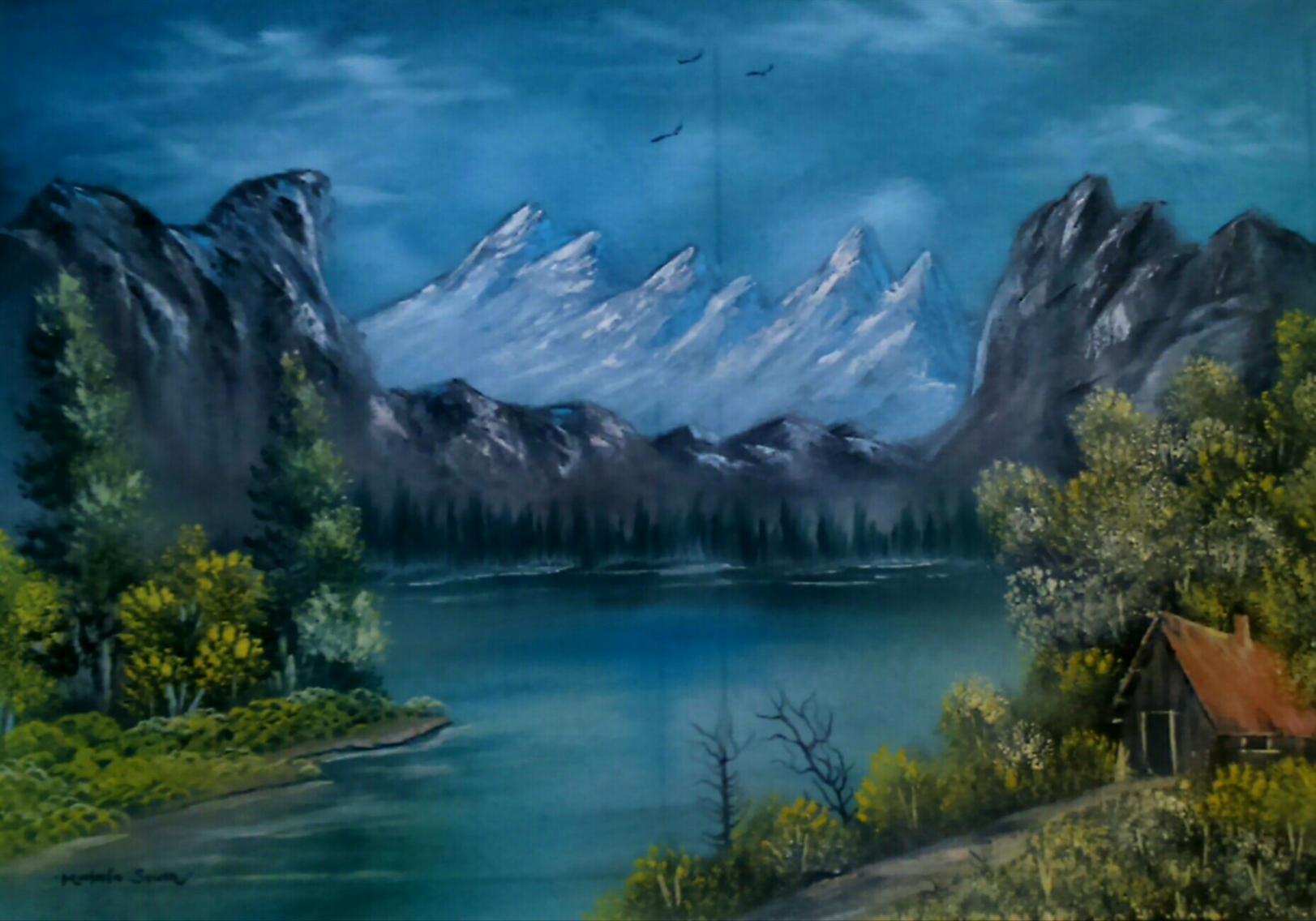 Ressam seven yağlı boya tablo