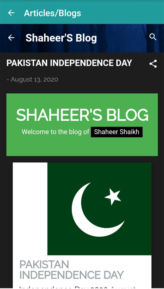 Shaheer's Blog