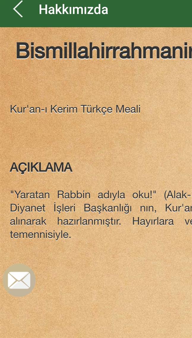 KUR'AN-I KERİM MEALİ