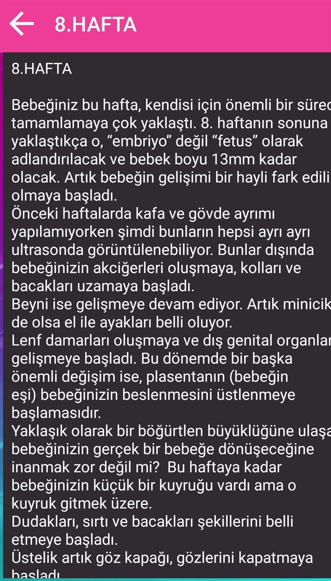 40 HAFTADA HAMİLELİK
