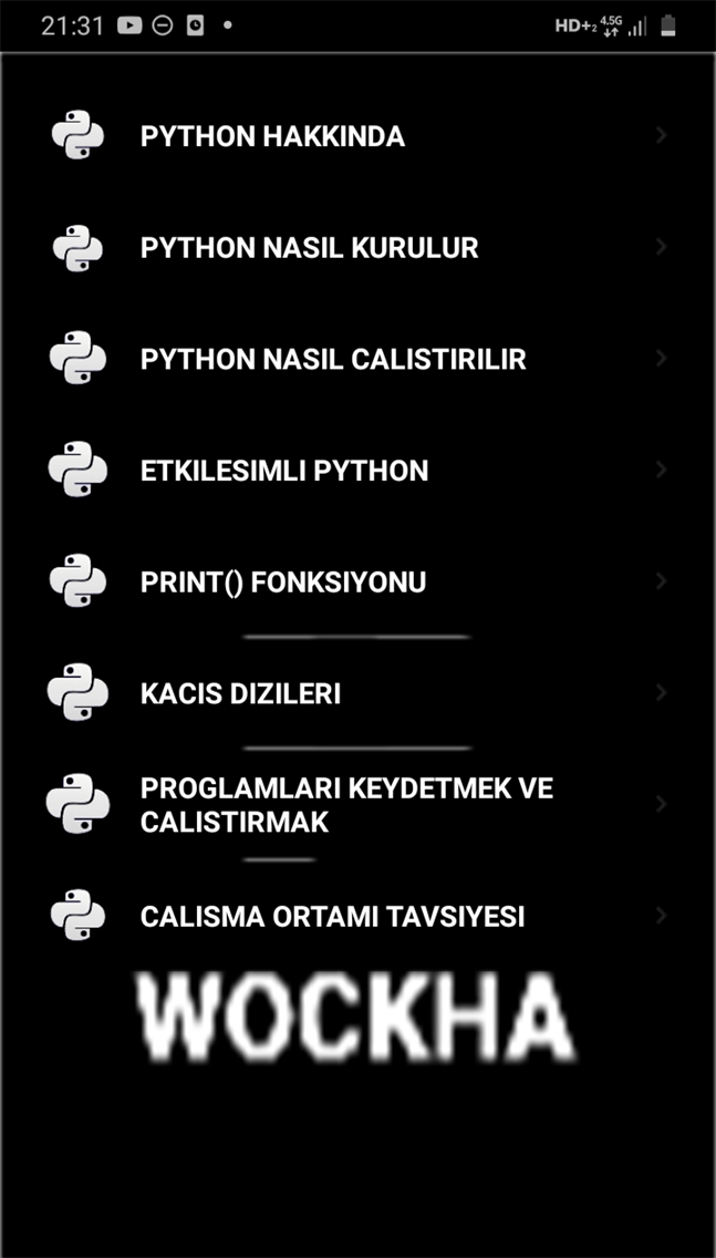 PYTHON EGITIM
