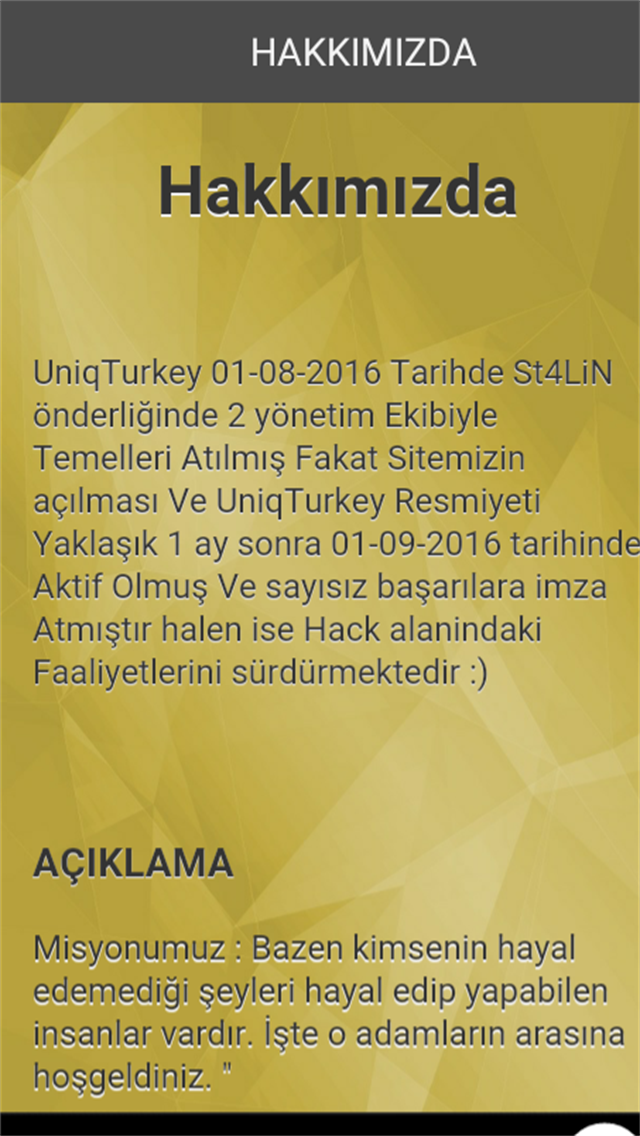 UniqTurkey V1