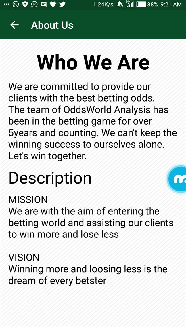 OddsWorld Analysis