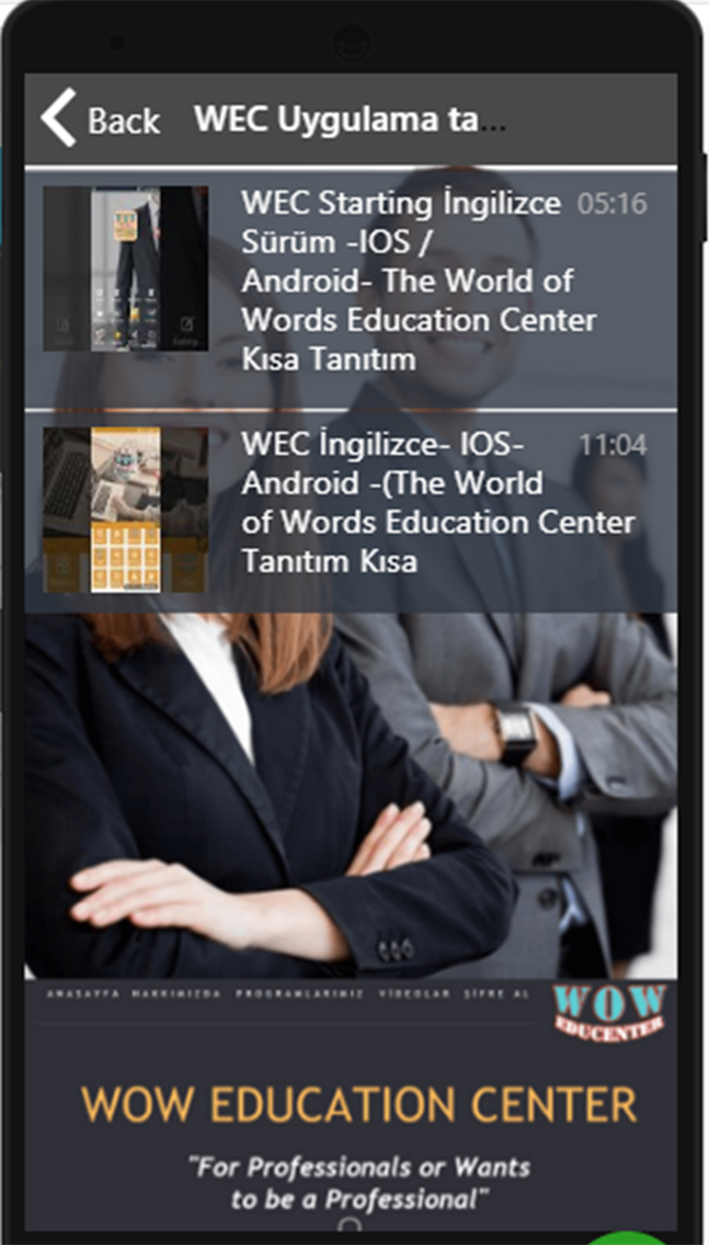 WEC İngilizce Starting